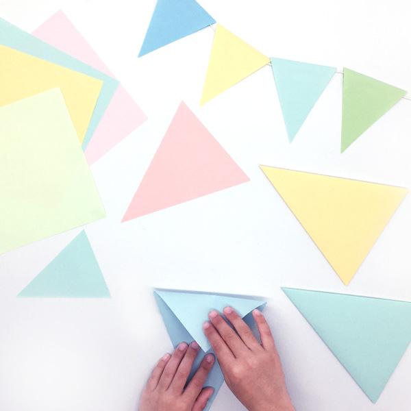 折り紙で作るフラッグガーランド